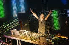 Το καλύτερο DJ Armin van Buuren Ibiza Στοκ Εικόνες
