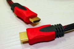 Το καλώδιο δικτύων για τον υπολογιστή χρησιμοποιείται για να δημιουργήσει τα δίκτυα Στοκ Εικόνες