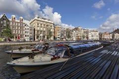 Το κανάλι Rokin στο Άμστερνταμ, Κάτω Χώρες στοκ εικόνες με δικαίωμα ελεύθερης χρήσης