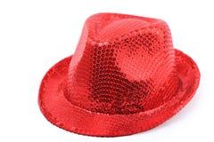 το καπέλο απομόνωσε το κόκκινο Στοκ Εικόνα