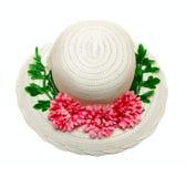 το καπέλο απομόνωσε το λευκό στοκ φωτογραφία με δικαίωμα ελεύθερης χρήσης
