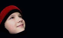 το καπέλο κοριτσιών προσώπου πλέκει Στοκ Εικόνες