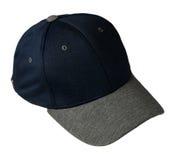 το καπέλο ανασκόπησης απ&omi Καπέλο με ένα γείσο μπλε καπέλο Στοκ Εικόνες