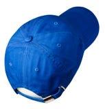 το καπέλο ανασκόπησης απ&omi Καπέλο με ένα γείσο μπλε καπέλο Στοκ εικόνες με δικαίωμα ελεύθερης χρήσης