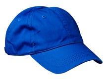 το καπέλο ανασκόπησης απ&omi Καπέλο με ένα γείσο μπλε καπέλο Στοκ φωτογραφία με δικαίωμα ελεύθερης χρήσης