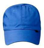 το καπέλο ανασκόπησης απ&omi Καπέλο με ένα γείσο μπλε καπέλο Στοκ Φωτογραφίες