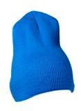 το καπέλο ανασκόπησης απ&omi καπέλο πλεκτό μπλε καπέλο Στοκ φωτογραφία με δικαίωμα ελεύθερης χρήσης