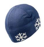 το καπέλο ανασκόπησης απ&omi καπέλο πλεκτό μπλε καπέλο Στοκ Εικόνες