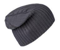 το καπέλο ανασκόπησης απ&omi καπέλο πλεκτό μπλε καπέλο Στοκ εικόνα με δικαίωμα ελεύθερης χρήσης