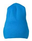 το καπέλο ανασκόπησης απ&omi καπέλο πλεκτό μπλε καπέλο Στοκ εικόνες με δικαίωμα ελεύθερης χρήσης