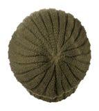 το καπέλο ανασκόπησης απ&omi καπέλο πλεκτό πράσινο καπέλο Στοκ Εικόνες