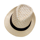 Το καπέλο ύφανσης που απομονώνεται στο άσπρο υπόβαθρο, όμορφο καπέλο αχύρου απομονώνει Στοκ Εικόνες