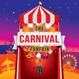 Το καρναβάλι funfair και μαγικός παρουσιάζει Στοκ εικόνα με δικαίωμα ελεύθερης χρήσης
