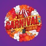 Το καρναβάλι funfair και μαγικός παρουσιάζει Στοκ φωτογραφία με δικαίωμα ελεύθερης χρήσης