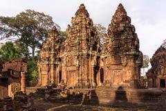 Το καταπληκτικό κάστρο Bayon ναών αρχαίο, Angkor Thom, Siem συγκεντρώνει, ασβέστιο Στοκ φωτογραφίες με δικαίωμα ελεύθερης χρήσης