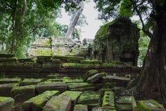 Το καταπληκτικό κάστρο Bayon ναών αρχαίο, Angkor Thom, Siem συγκεντρώνει, ασβέστιο Στοκ εικόνα με δικαίωμα ελεύθερης χρήσης
