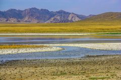 Το καταπληκτικό Gobi χωριό, Μογγολία στοκ εικόνες