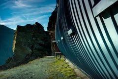 Το καταφύγιο dlhà ¼ Stà ¼ tte κάτω από Grossglockner τοποθετεί στο υψηλό NA Tauren Στοκ Φωτογραφία