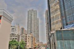 το κατοικημένο κτήριο στο Χογκ Κογκ στοκ εικόνα
