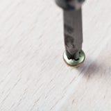 Το κατσαβίδι τυλίγει τη βίδα στοκ εικόνα με δικαίωμα ελεύθερης χρήσης