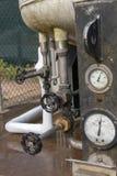 Το κατώτατο σημείο μιας υγρής δεξαμενής οξυγόνου στοκ φωτογραφίες