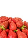 Το κατώτατο σημείο φραουλών, σύνορα που γίνονται από τις φράουλες, είναι εκεί διαστημικό για προσθέτει κάποιο κείμενο η ανασκόπησ Στοκ εικόνες με δικαίωμα ελεύθερης χρήσης