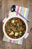 Το κατ' οίκον γίνοντα παραδοσιακό ιρλανδικό αρνί μαγειρεύει σε κατσαρόλα Στοκ Εικόνες