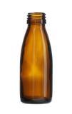 Το καφετί μπουκάλι γυαλιού πέρασε κλωστή στο στόμα που απομονώθηκε στο άσπρο υπόβαθρο Στοκ φωτογραφία με δικαίωμα ελεύθερης χρήσης