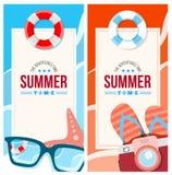 Το καλοκαίρι προσκαλεί την έννοια καρτών απεικόνιση αποθεμάτων