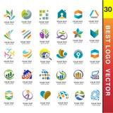 Το καλύτερο επιχειρησιακό εταιρικό λογότυπο έθεσε το διάνυσμα 30 Στοκ εικόνα με δικαίωμα ελεύθερης χρήσης