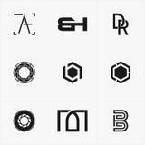 το καλύτερο λογότυπο εικονιδίων που τίθεται για την επιχείρησή σας Στοκ Φωτογραφίες