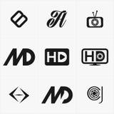 το καλύτερο λογότυπο εικονιδίων που τίθεται για την επιχείρησή σας Στοκ Εικόνες