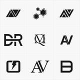 το καλύτερο λογότυπο εικονιδίων που τίθεται για την επιχείρησή σας Στοκ Εικόνα