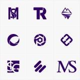 το καλύτερο λογότυπο εικονιδίων που τίθεται για την επιχείρησή σας Στοκ Φωτογραφία