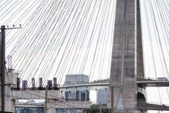 Το καλώδιο έμεινε κατασκευή γεφυρών στοκ φωτογραφία με δικαίωμα ελεύθερης χρήσης