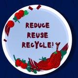 Το κείμενο γραφής μειώνει την επαναχρησιμοποίηση ανακύκλωσης Σημασία έννοιας που περιορίζει στο ποσό απορριμάτων καθιστάμε κάθε χ διανυσματική απεικόνιση