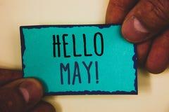 Το κείμενο γραψίματος λέξης γειά σου μπορεί κινητήριος να καλέσει Η επιχειρησιακή έννοια για την έναρξη ενός νέου μήνα Απρίλιος ε Στοκ Εικόνα
