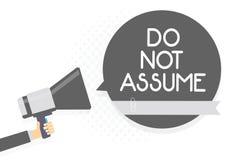 Το κείμενο γραψίματος λέξης δεν υποθέτει Επιχειρησιακή έννοια για Ask να αποφευχθεί πρώτα η εκμετάλλευση ατόμων προβλημάτων σύγχυ Ελεύθερη απεικόνιση δικαιώματος