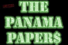 Το κείμενο εγγράφων του Παναμά στοκ εικόνα