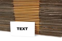 Το κείμενο στη επαγγελματική κάρτα, τα κιβώτια εγγράφου υποβάθρου Στοκ Εικόνες