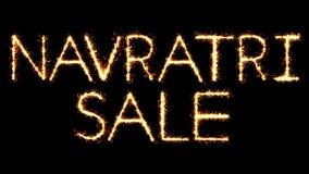 Το κείμενο Sparkler πώλησης Navratri ακτινοβολεί ζωτικότητα βρόχων πυροτεχνημάτων σπινθήρων ελεύθερη απεικόνιση δικαιώματος