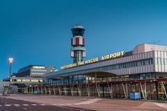 Το κεντρικό κτίριο του αερολιμένα του Ρότερνταμ Χάγη Στοκ Εικόνες