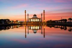 Το κεντρικό μουσουλμανικό τέμενος Songkla στην Ταϊλάνδη Στοκ Φωτογραφία