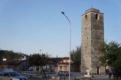 Το κεντρικό τετράγωνο της πρωτεύουσας του Μαυροβουνίου, Podgorica Στοκ Φωτογραφία