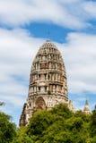 Το κεντρικό prang του wat Ratchaburana σε Ayutthaya, Ταϊλάνδη Στοκ Εικόνες
