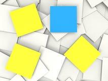 Το κενό για να κάνει τις σημειώσεις παρουσιάζει τα υπομνήματα και ειδοποιήσεις Copyspace απεικόνιση αποθεμάτων