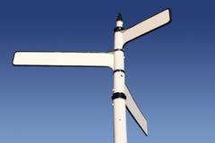 το κενό διαμόρφωσε το παλαιό τριπλό λευκό σημαδιών Στοκ Φωτογραφίες
