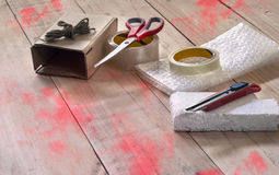 Το κενό κιβώτιο είναι εξοπλισμός για το κιβώτιο Στοκ φωτογραφία με δικαίωμα ελεύθερης χρήσης