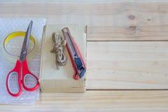 Το κενό κιβώτιο είναι εξοπλισμός για το κιβώτιο Στοκ εικόνες με δικαίωμα ελεύθερης χρήσης