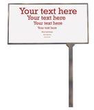 το κενό πινάκων διαφημίσεων ανασκόπησης απομόνωσε το λευκό Στοκ φωτογραφία με δικαίωμα ελεύθερης χρήσης